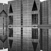 Bangladesh National Assembly, Exterior Black and White (Dhaka, Bangladesh, n.d.)