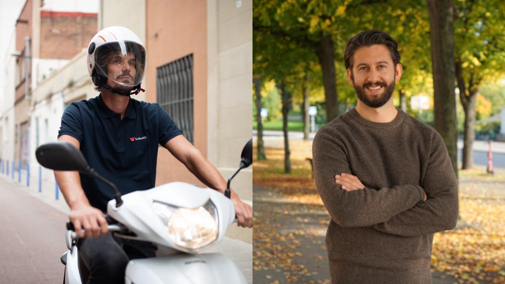 En ExpressBuddy och David Fauné, Country Manager på TechBuddy Sverige.