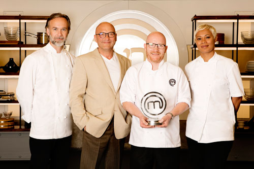 Gary Maclean with Marcus Wareing, Gregg Wallace, and Monica Galletti