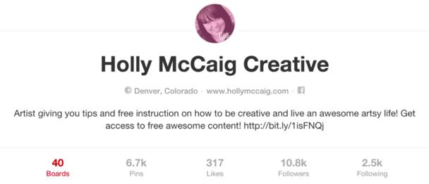Holly McCaig Creative Pinterest