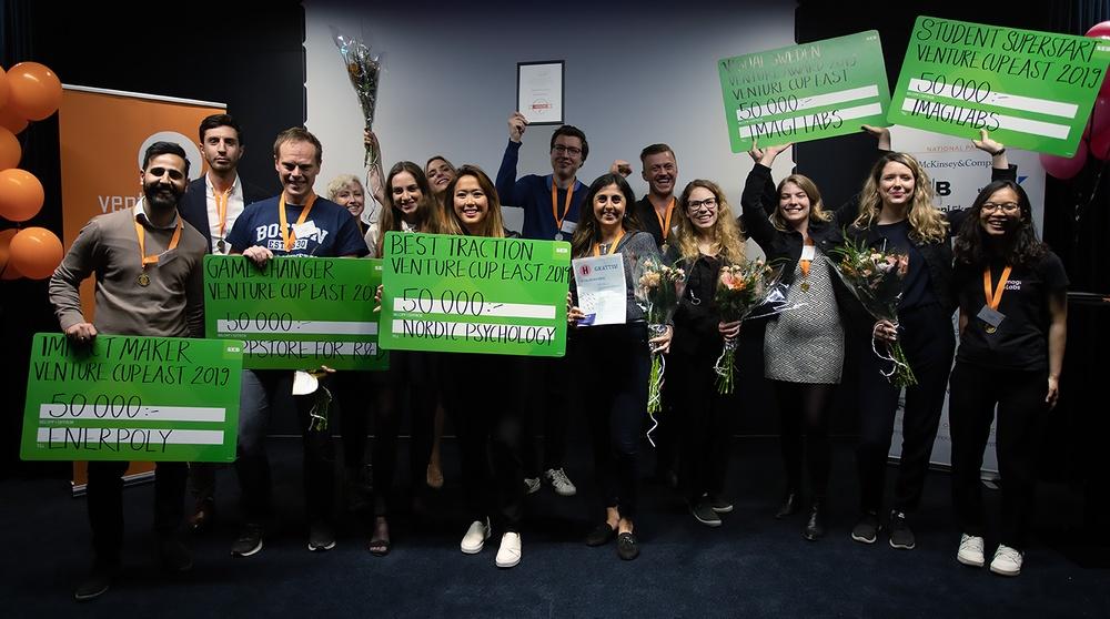 Vinnarna i Venture Cup Startup Öst 2019. Foto: Martin Lundström