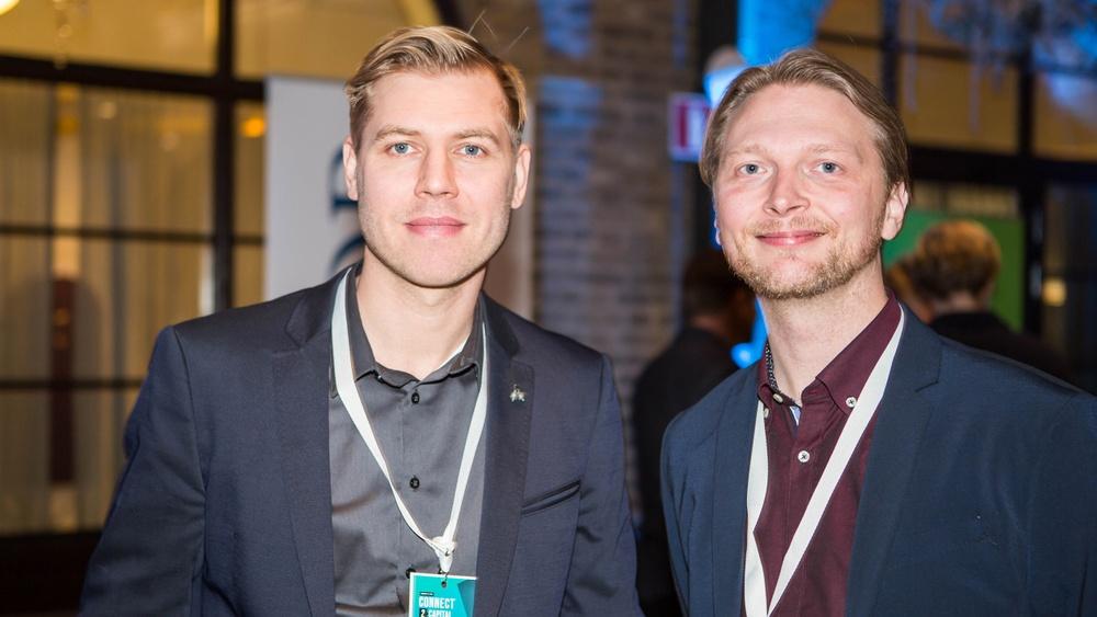 Delar av grundarteamet bakom OceanSky från vänster Carl-Oscar Lawaczeck och Christoffer Wildeke.