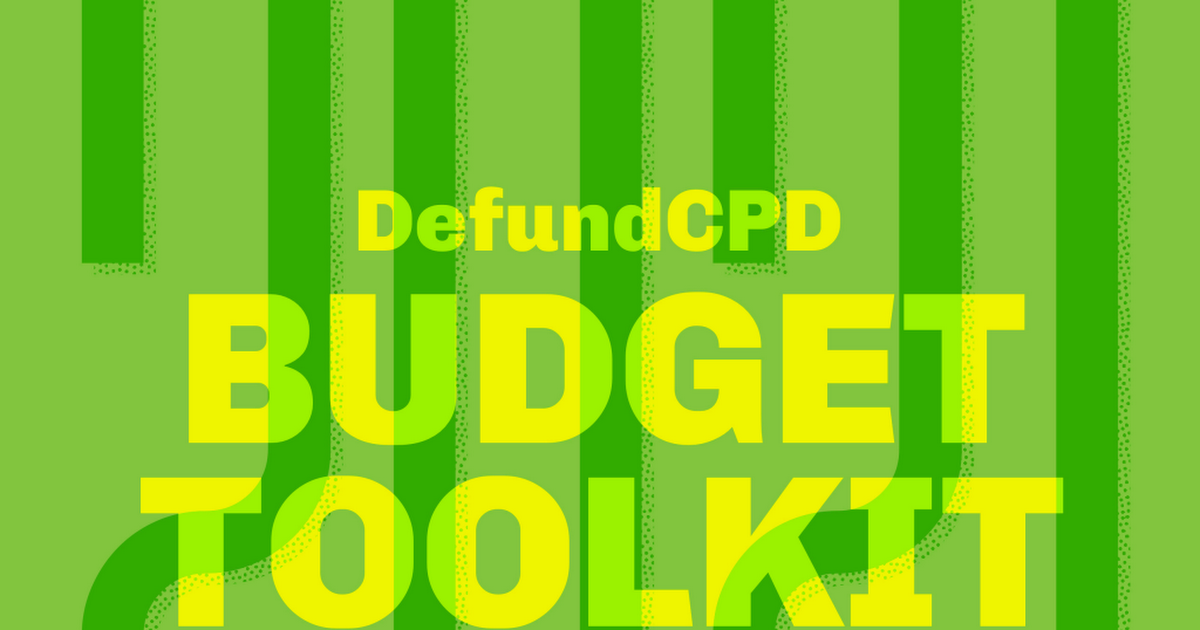 @defundcpd Use our budget toolkit to take action Link Thumbnail   Linktree
