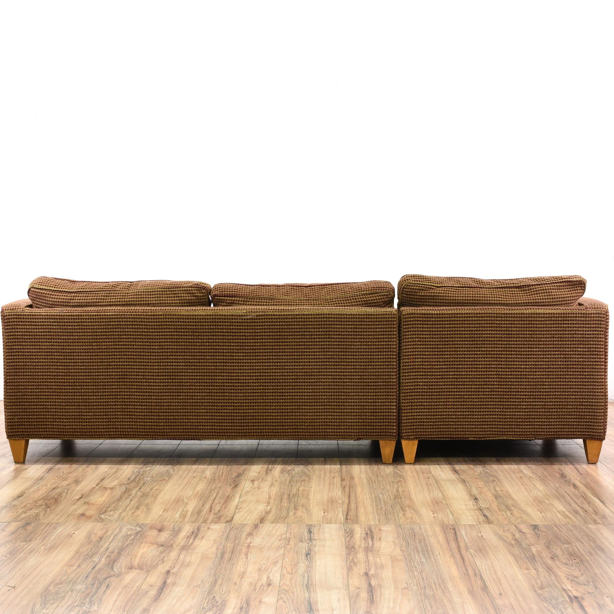 Ethan Allen Mid Century Modern Sofa W Chaise Loveseat Vintage