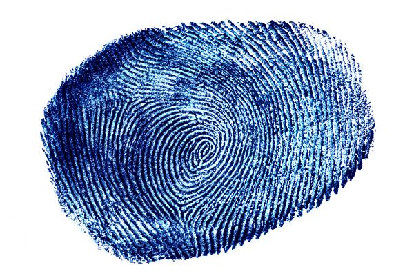 Fingerprint in Black and White.