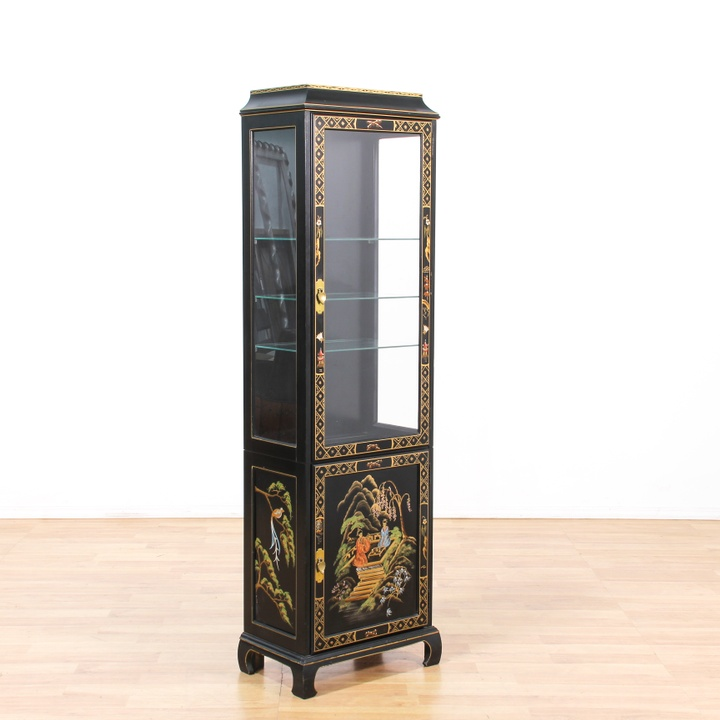 Quot Jasper Cabinet Quot Asian Tall Curio Cabinet Loveseat