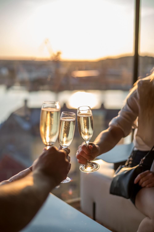 View Skybar & Restaurant på Hotel Riverton i Göteborg