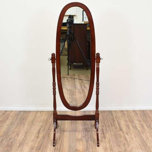 Cherry Wood Standing Dressing Mirror