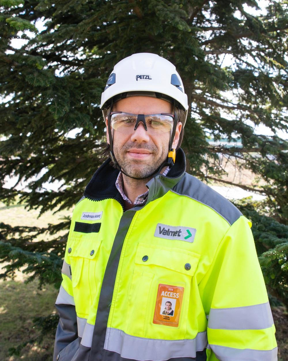 Anderas Moberg, chef för hälsa, säkerhet och miljö inom Valmet Skandinavien, uppskattar samarbetet med bruken. Foto: Valmet