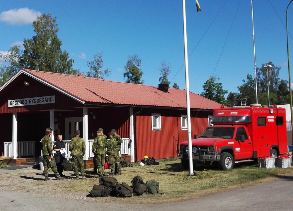 Broddbo bygdegård fungerade som ledningsplats vid släckningarbetet av bränderna i Sala sommaren 2018. Foto: Anders Weiss