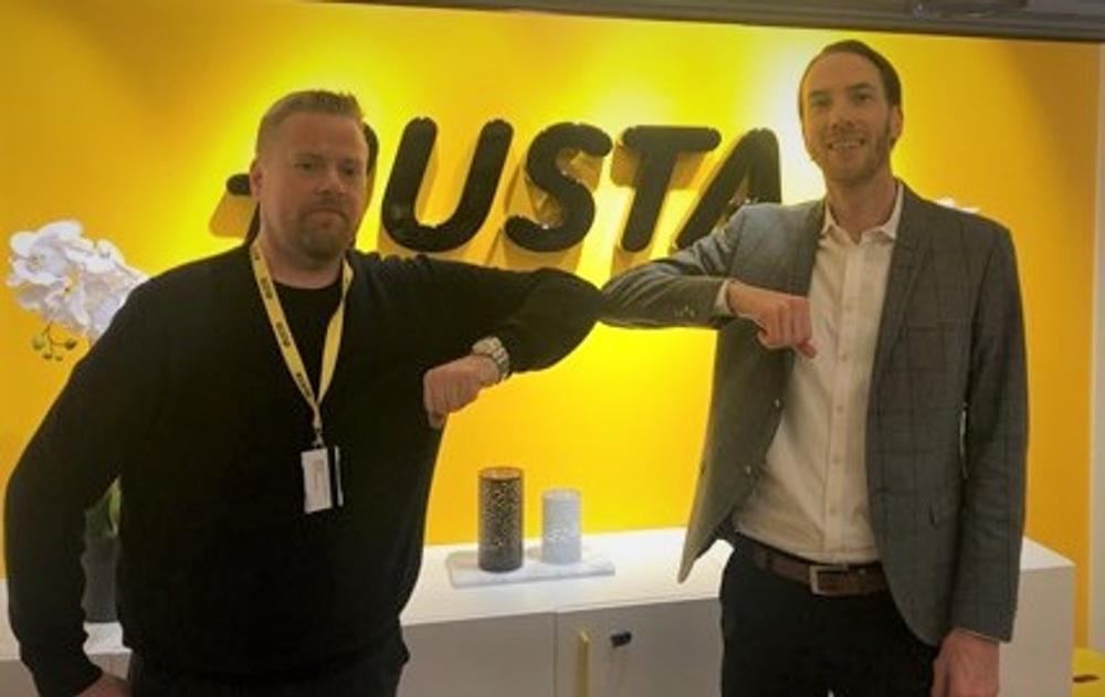 Niklas Allwin, Säkerhetschef Rusta AB och Micael Carlsson, Dafo Brand AB.