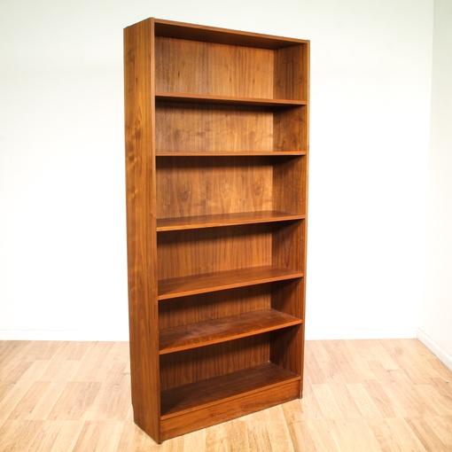 Tall danish modern bookcase loveseat vintage furniture for Secret storage bookcase
