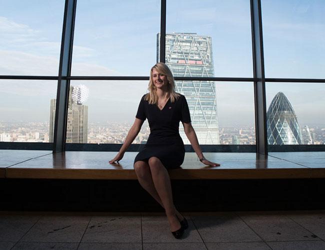 Jennifer Santner at Sky Garden, London