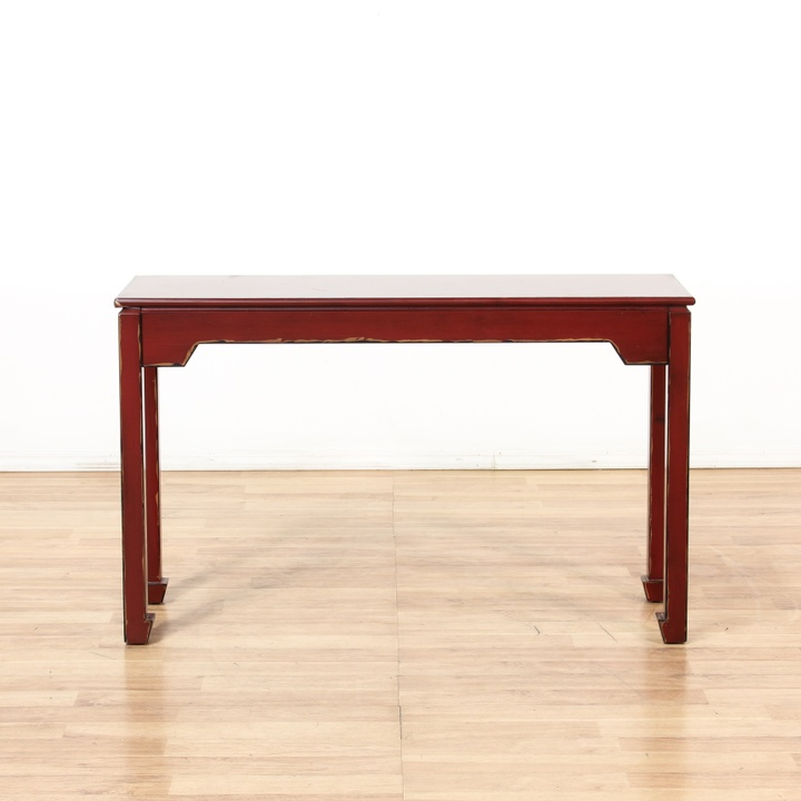 Pier one red asian sofa console table loveseat vintage for Sofa table pier one