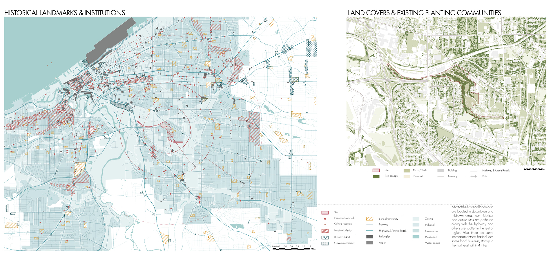 Mapping of landmarks and land covers
