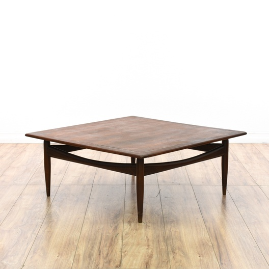 """Lane"" Low Square Mid Century Modern Coffee Table"