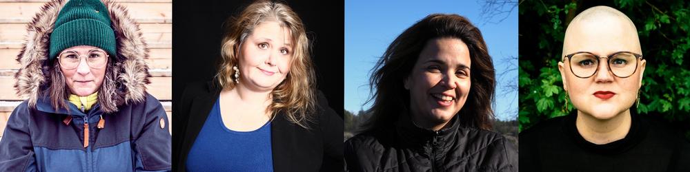 Kandidaterna: Katrin Wissing, Tina Wallenius, Mariana Moreira Duarte och Emma Hult.