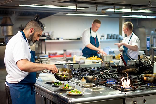 Martin Williams M Restaurant shoot for Caterer Magazine