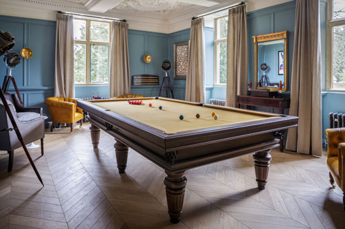 Slaughters Manor House, the billiards room