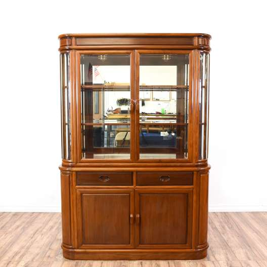 Rosewood Asian Inspired China Cabinet Display