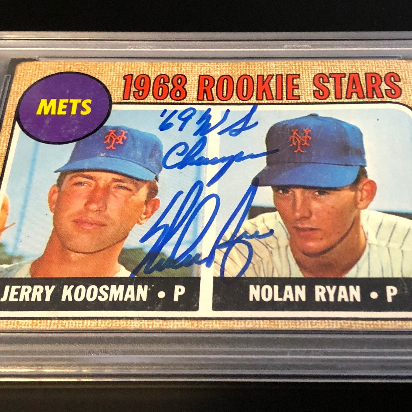 Nolan Ryan Signed 1968 Topps Rookie Card Collectionzz