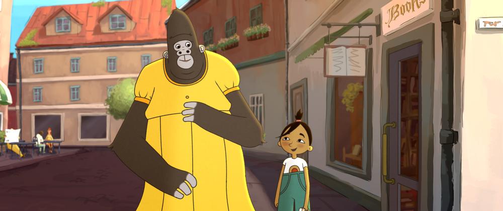 Gorilla and Jonna in The Ape Star. Photo: SF Studios