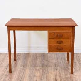 Danish Modern Simple Teak Desk