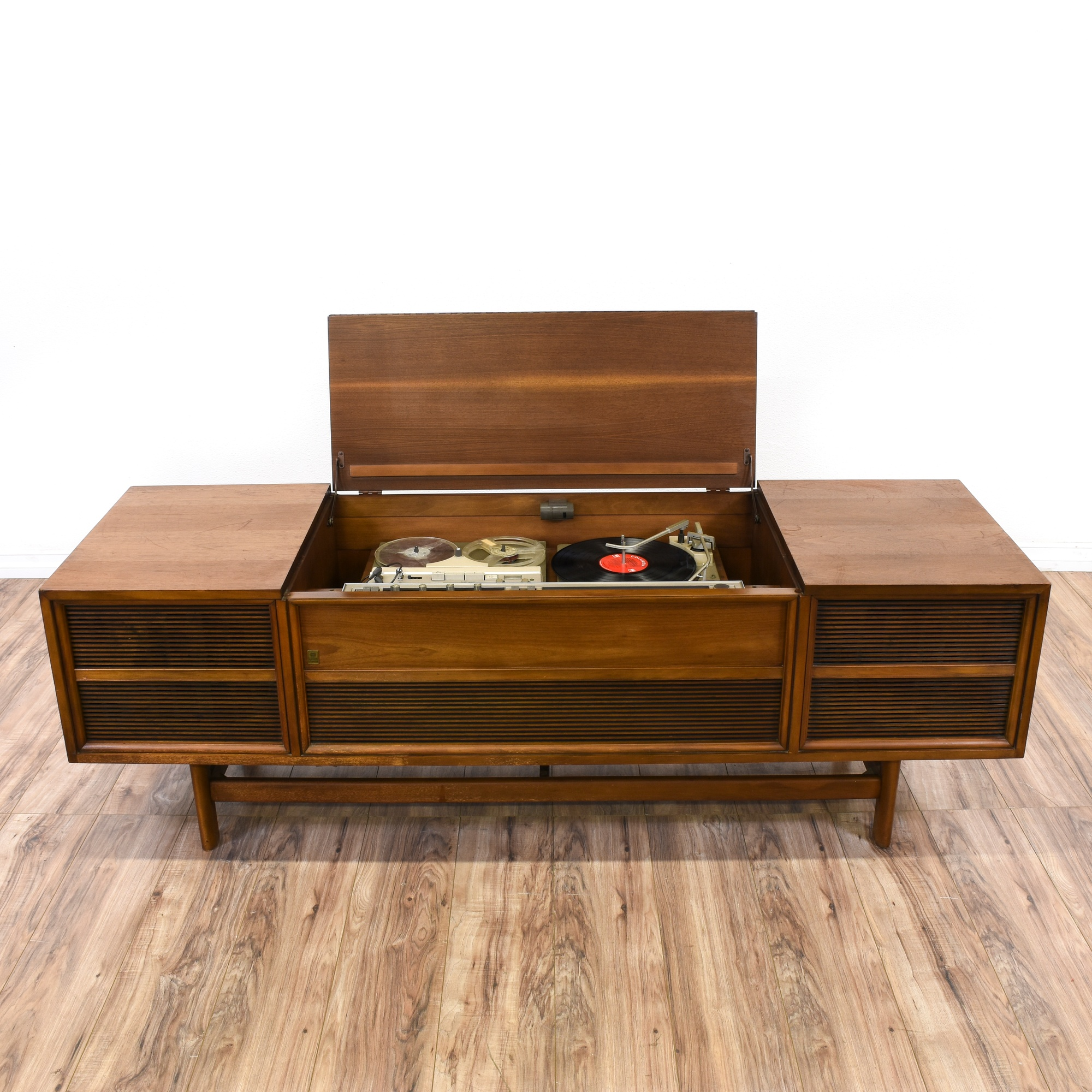 Mid Century Modern Quot Ge Quot Record Cabinet Console Loveseat Vintage Furniture San Diego Amp Los Angeles
