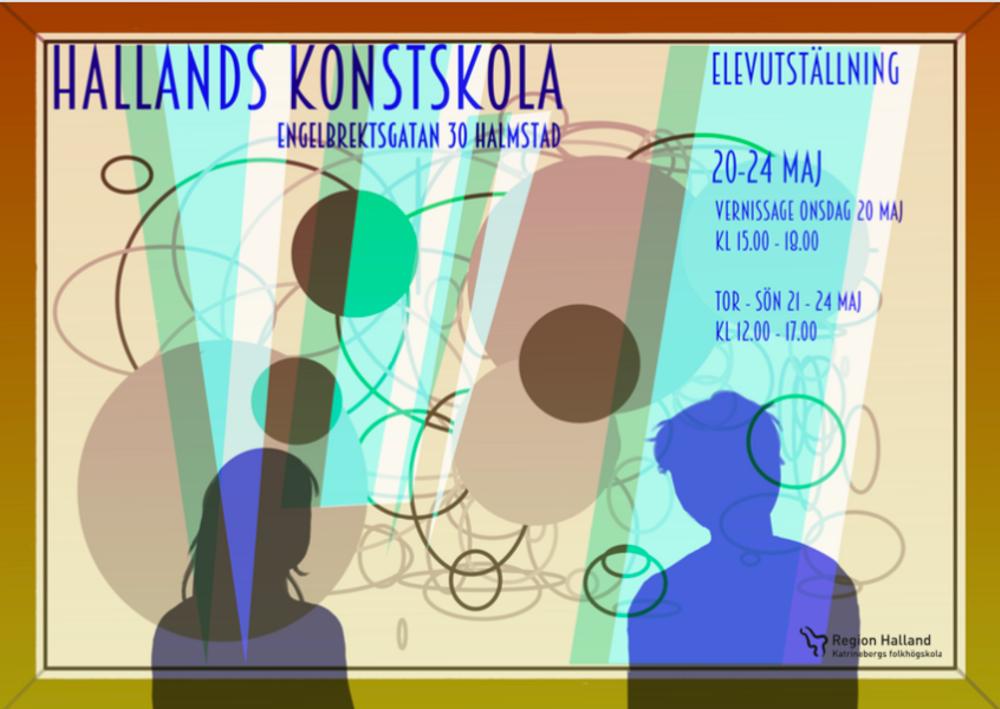 Vernissagekort Hallands konstskola