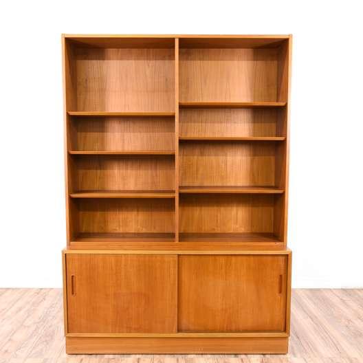 Danish Modern Wall Unit Bookcase Cabinet