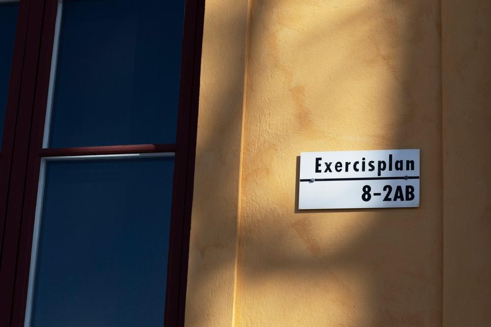 Exercisplan at ArkDes. Photo: Louise Helmfrid