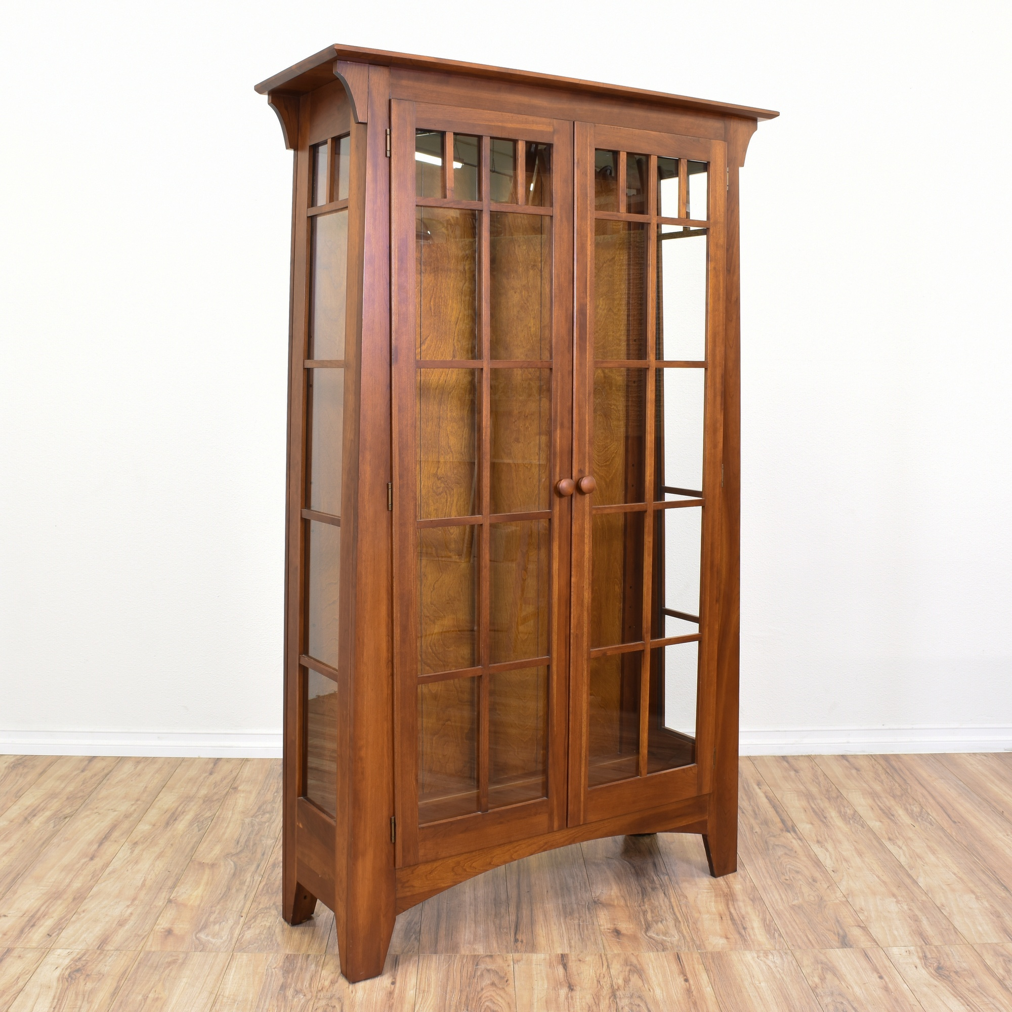 Quot Ethan Allen Quot Mission Style Armoire Display Case