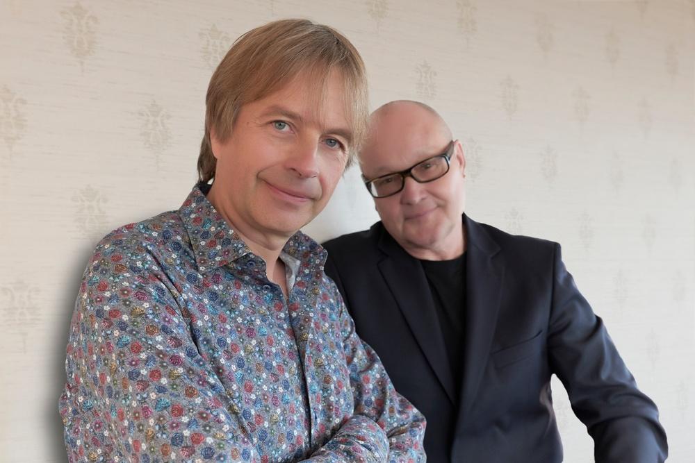 Jan Lundgren (kontnärlig ledare för Ystad Sweden Jazz Festival) och Nils Landgren