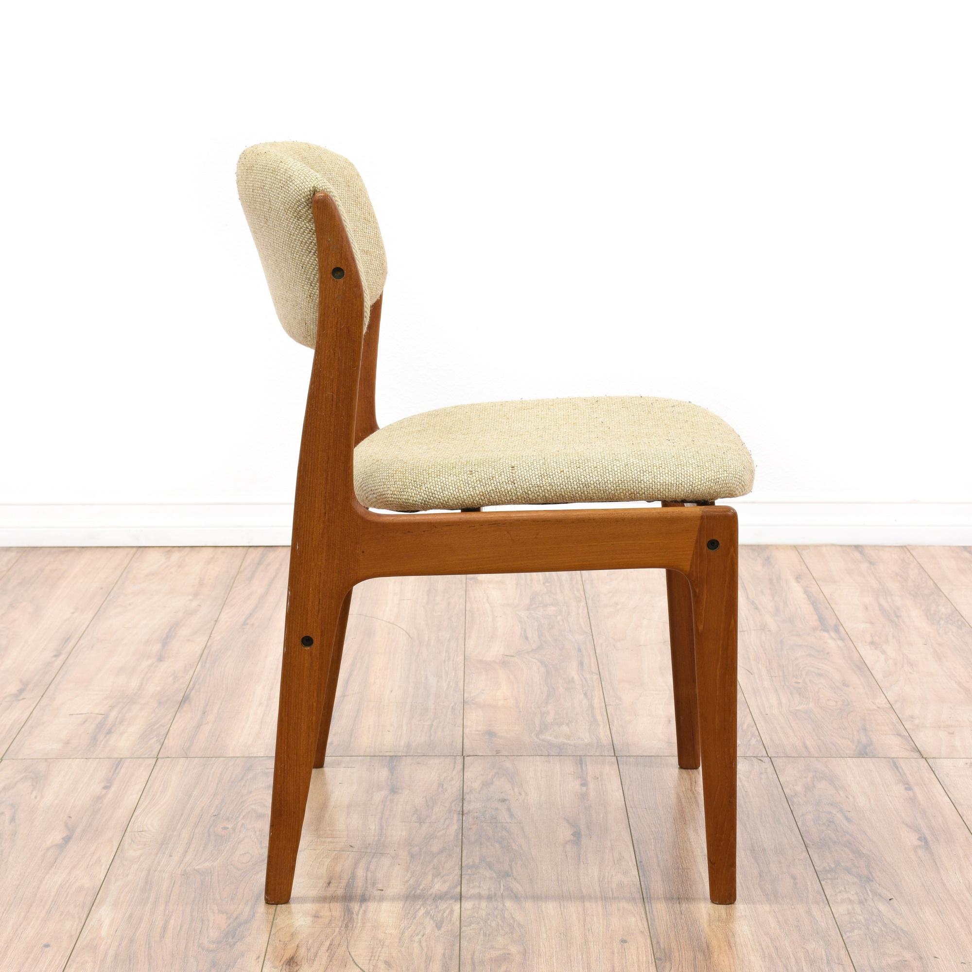 "Danish Modern Dining Chair: Pair Of ""Benny Linden"" Danish Modern Dining Chairs"