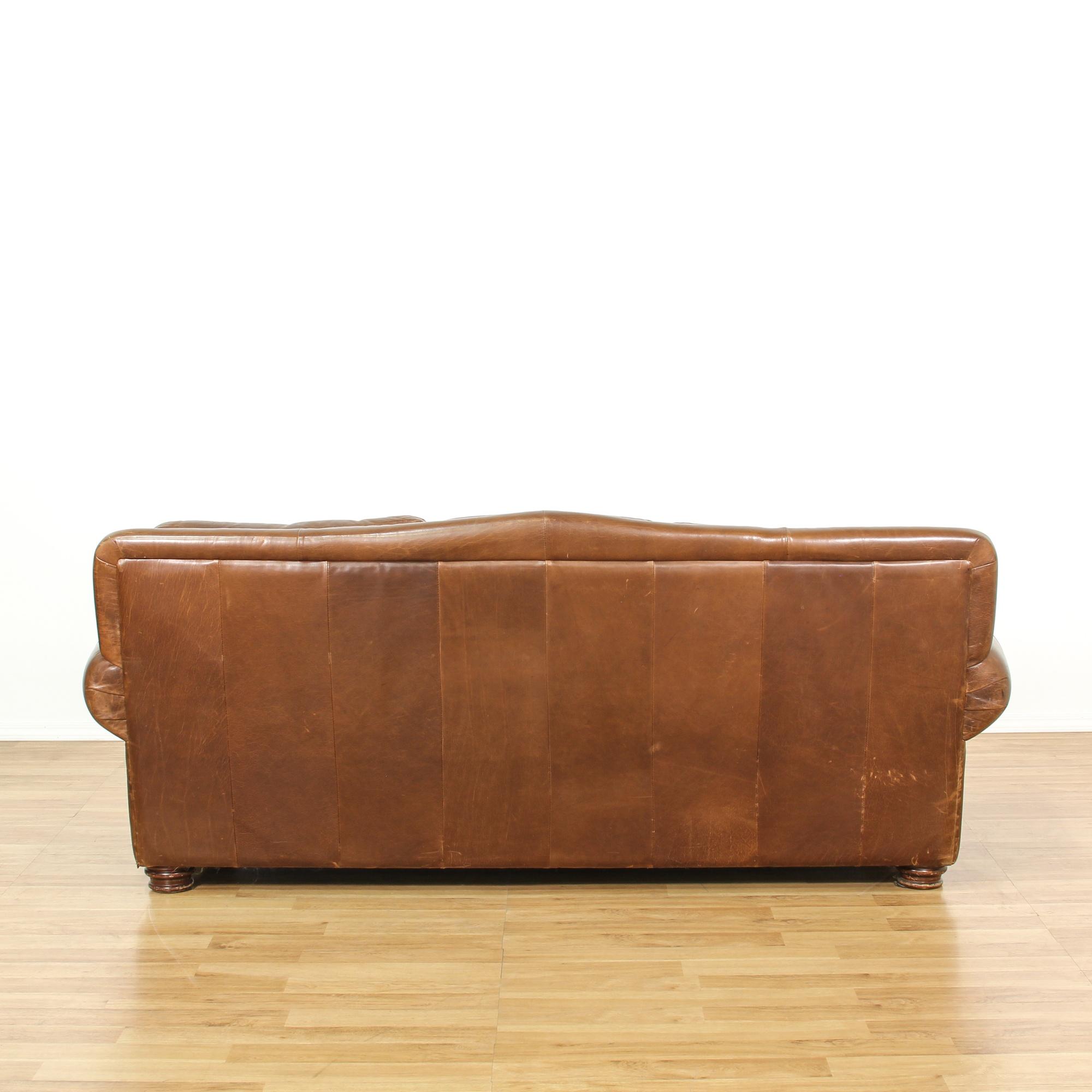 Ralph Lauren Style Leather Studded Sofa Loveseat Vintage Furniture San Diego Los Angeles