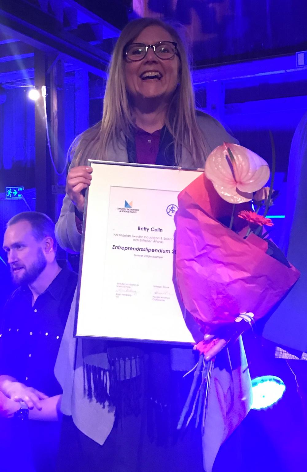 Betty Collin en av Sveriges tio mest innovativa entreprenörer.