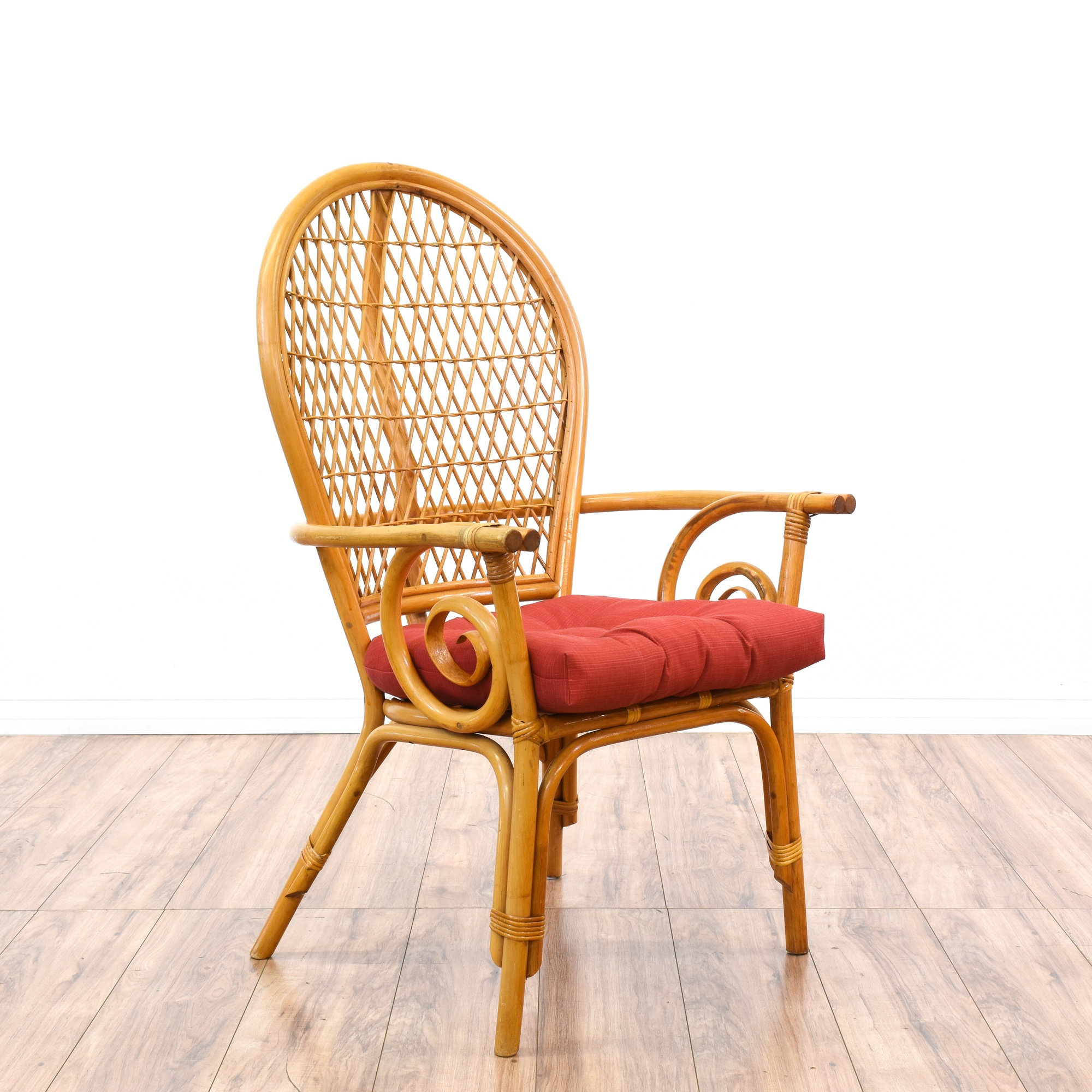 Dining Room Chairs San Diego: Set Of 4 Tropical Lattice Rattan Dining Chairs