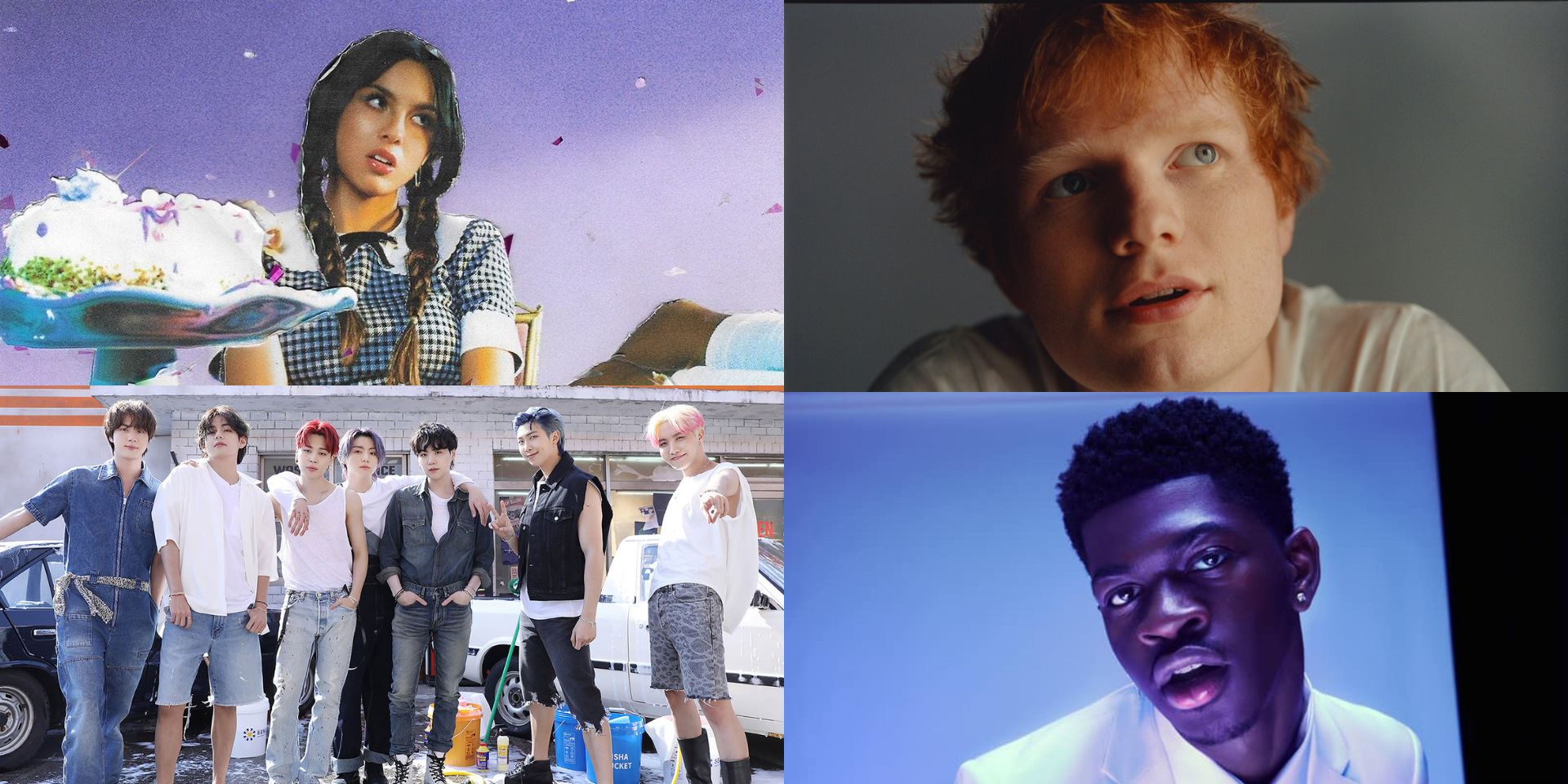 Hits by Olivia Rodrigo, BTS, Lil Nas X, Ed Sheeran, and more are Spotify's top songs of the summer
