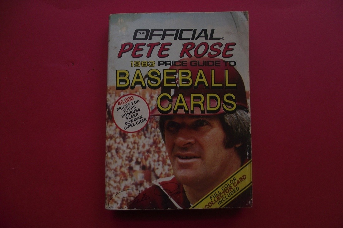 Official Pete Rose 1983 Baseball Card Price Guide Collectionzz