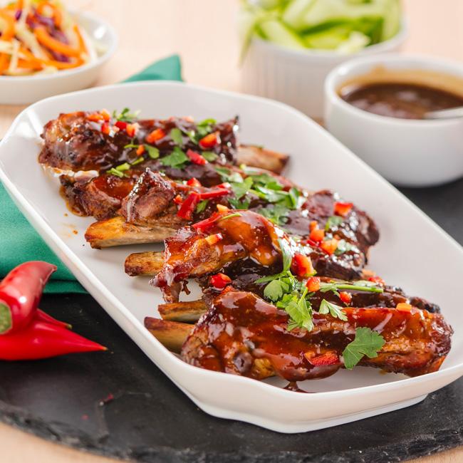 Lion's Korean BBQsauce pork ribs