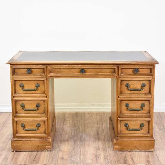 Leather Top Kneehole Desk
