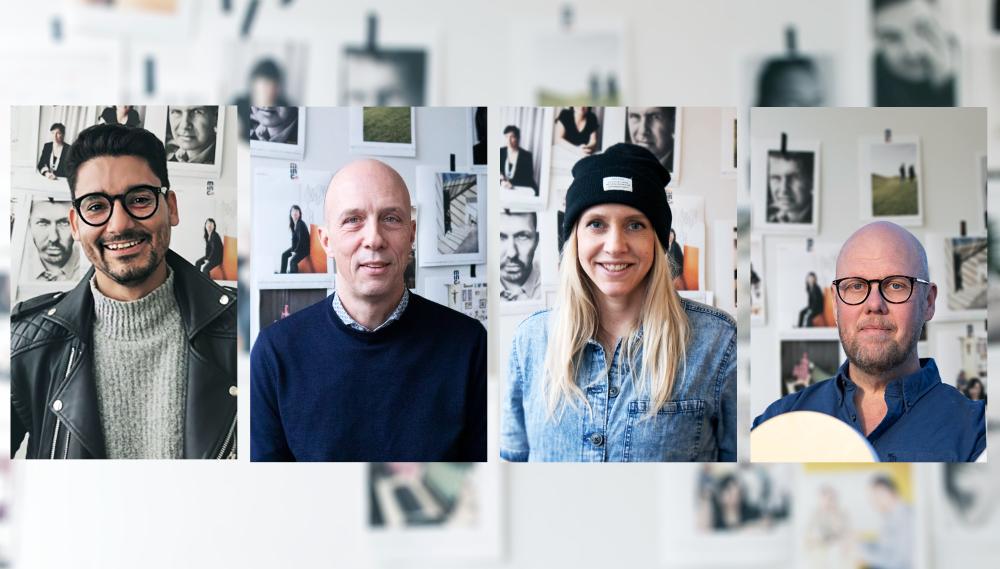 Minc Tech Lab coaches: Sebastian Otarola, Ulf Christiansson, Vanja Tufvesson, Rickard Hansson.