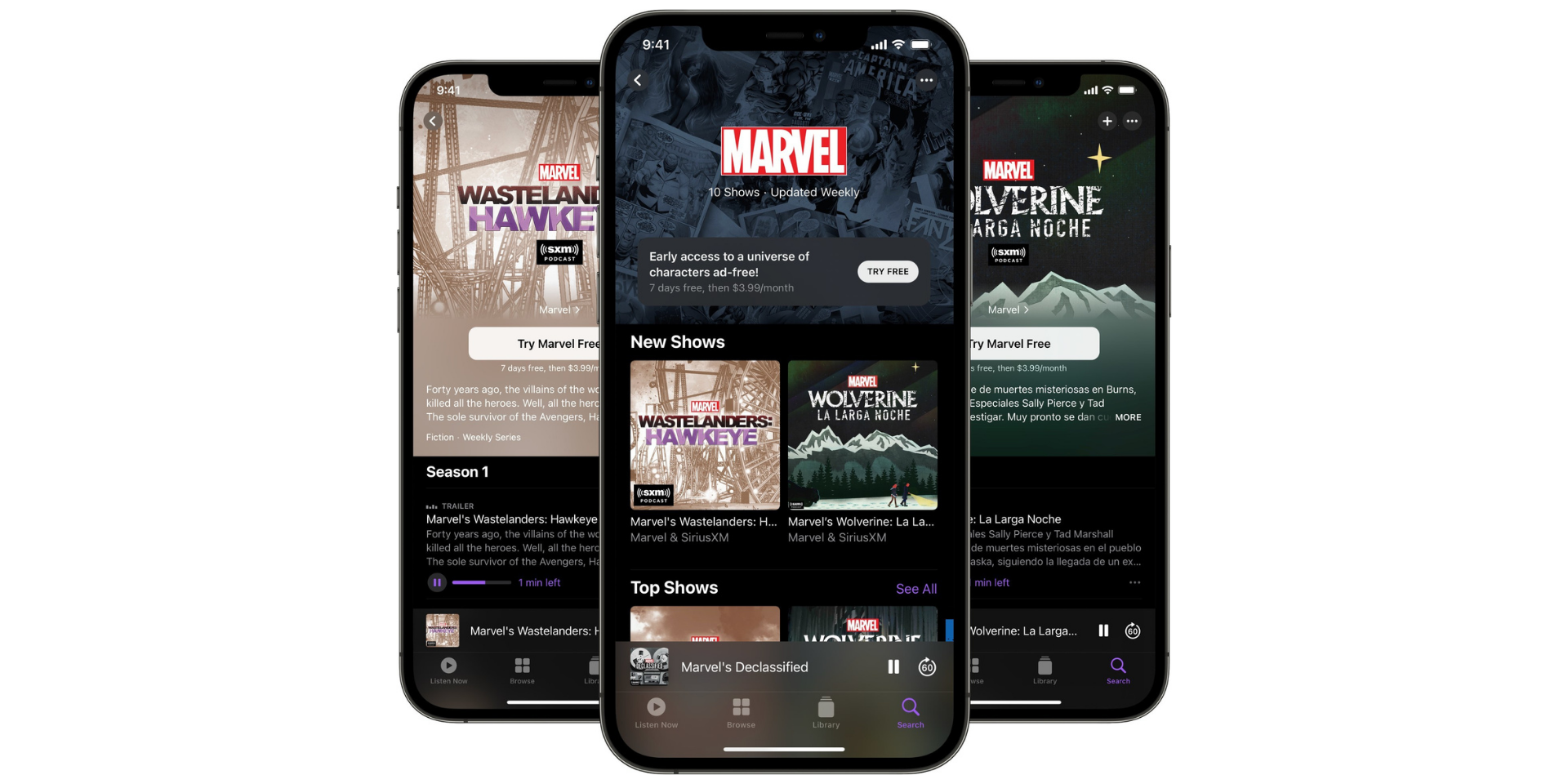 SiriusXM and Marvel launch new exclusive Marvel channel on Apple Podcasts
