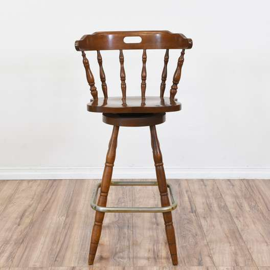 Tall Country Chic Swivel Base Barstool