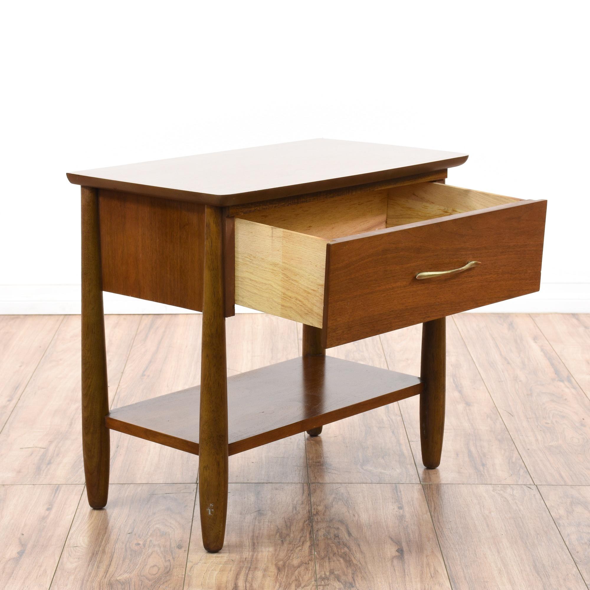 Pair of mid century modern nightstands loveseat vintage for Mid century modern la