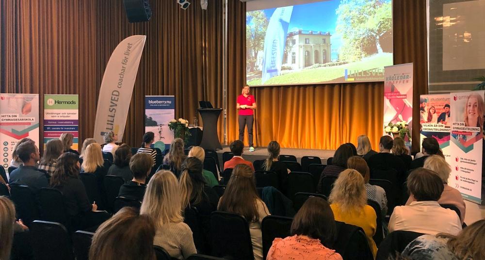 Studie- och yrkesvägledare i Stockholm fick lyssna på inspirerande föreläsningar av Jobba Grönt, Lillsveds Idrottsfolkhögskola, Blueberry College & Universitet och CSN, Centrala Studiestödsnämnden.