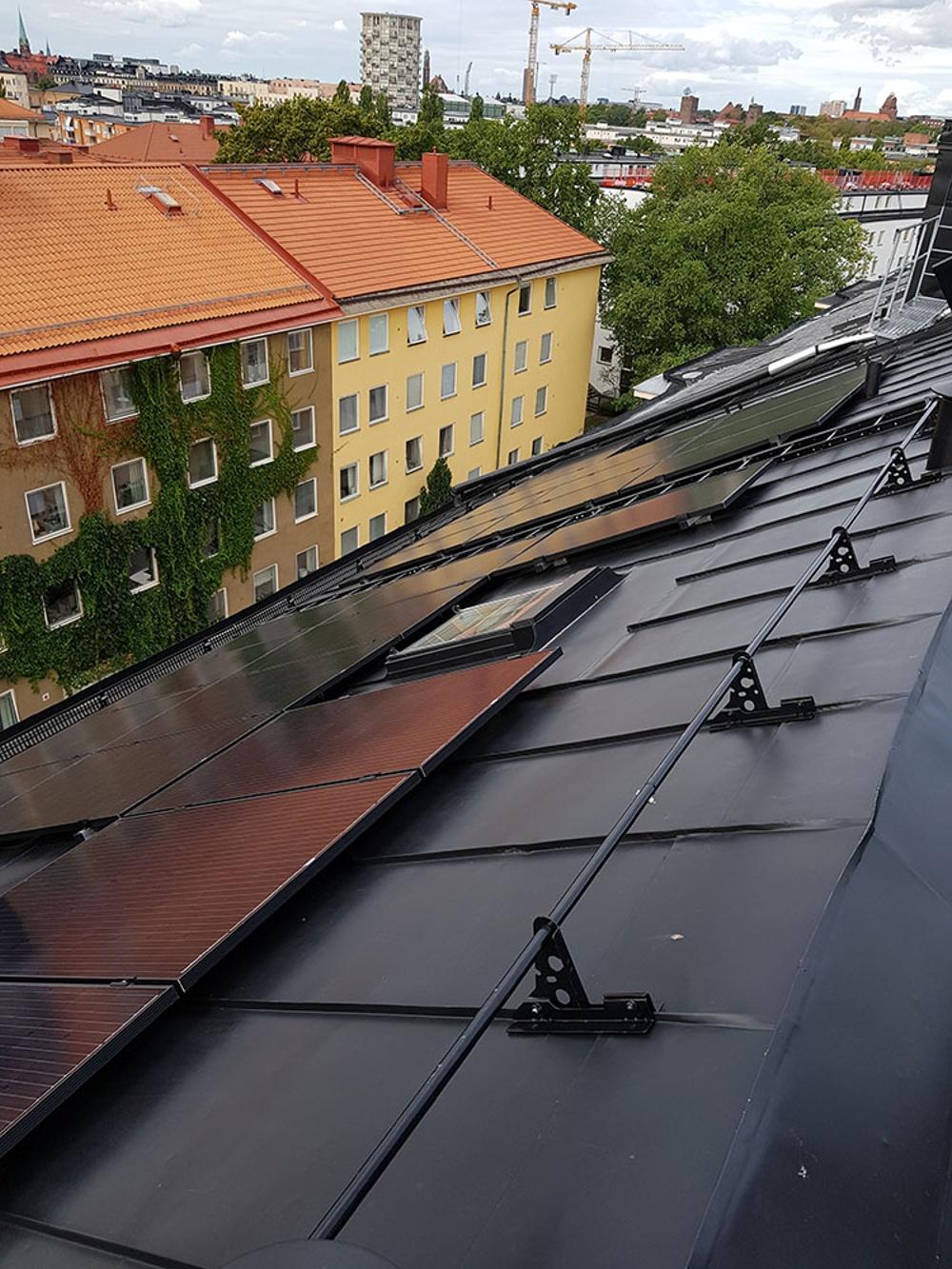 Wallfast fastighet Gärdet får solceller