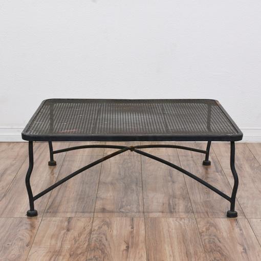 Perforated Metal Black Coffee Table
