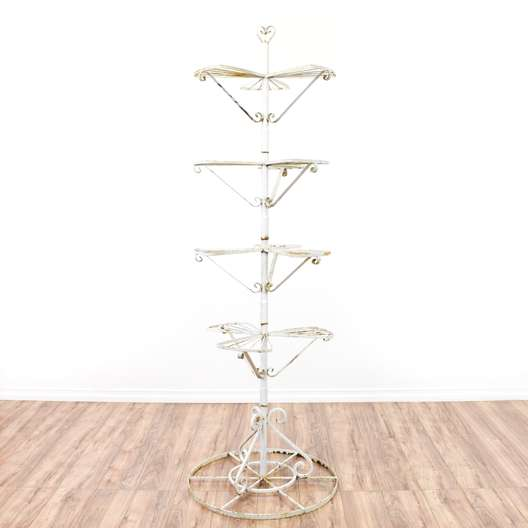 Wrought Iron Plant Stand Shelf 1