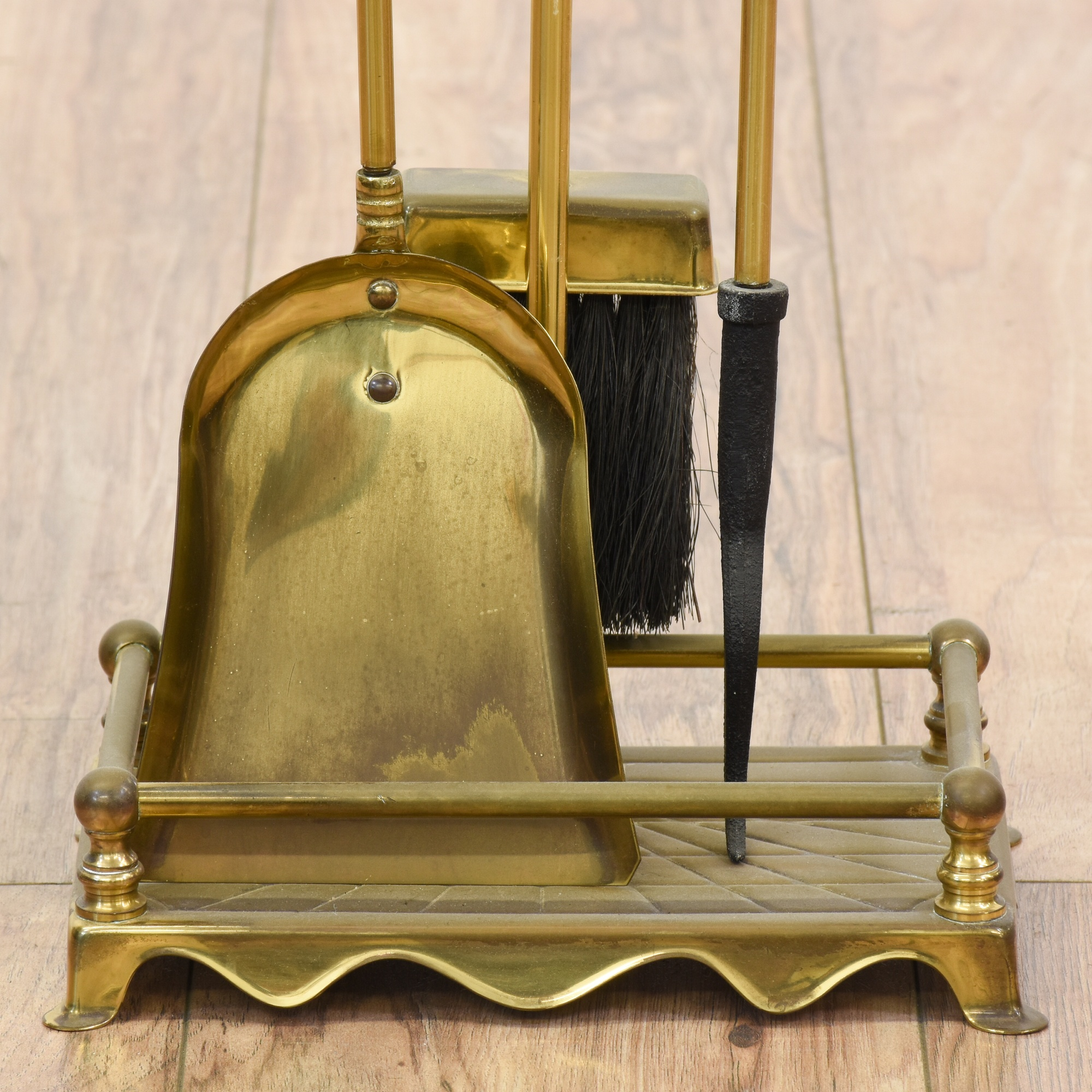 Brass Fireplace Accessories Stand